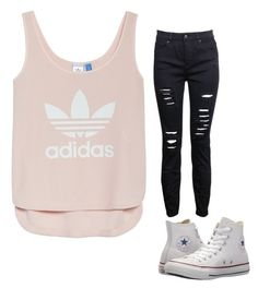 """""""Untitled #48"""" by savagesquad11 ❤ liked on Polyvore featuring adidas and Converse"""