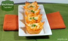 "Emily Bites - Weight Watchers Friendly Recipes: Enchilada ""Cupcakes"""