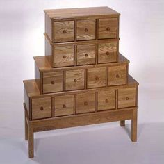 Karen, I always wanted yours like this.  I think Geri has one too!  Wood 15 Drawer CD, DVD Storage Cabinet, Apothecary Style modern media storage
