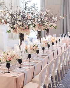 Pretty centerpiece with tall branches