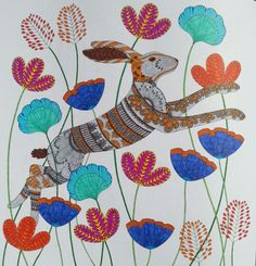 Hare In Wildflowers From Millie Marottas Animal Kingdom