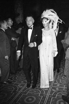 Gianni and Marella Agnelli  Truman Capote's Black-and-White Ball November 28, 1966.