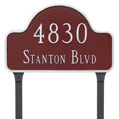 Montague Metal Products Lexington Large Two Line Arch Address Plaque Finish: Sand/Silver