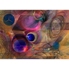 Peace Will Come - By John Robert Beck  This art was created in 2011. Peace Will Come is an abstract composition.  Circles and Hexagons make up the main forms, along with fractals. The art title is from a song by Melanie (Safka). $3.00