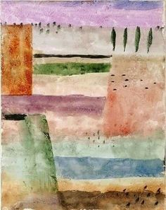lavendar with the sienna, greens, earths.Paul Klee - Landscape with Poplars (Landschaft mit Pappeln), 226 Wassily Kandinsky, Abstract Landscape, Abstract Art, Paul Klee Art, Famous Artists, Oeuvre D'art, Les Oeuvres, Art History, Modern Art