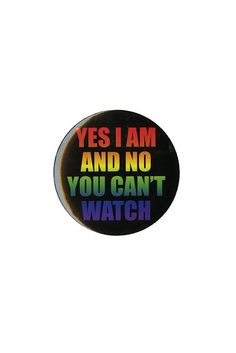 "Yes I Am Rainbow 3"" Pin $2.99 #HotTopic"