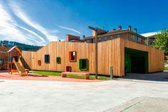 Wooden nursery school in Zaldibar by Ugari Studio and Hirribarren González Arquitectos #WoodLovers #architecture #school