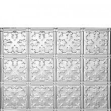 0605 Mini Fleur de Lis Aluminum Backsplash Tile Sheet