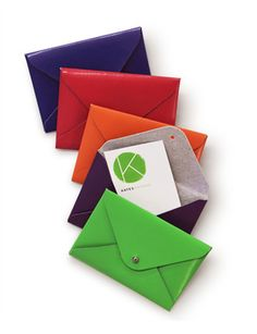 Kate's Paperie - business card holders.  Want one in every color!