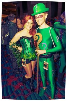 Poison ivy & riddler cosplay @ dragon*con