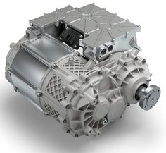 The electric axle drive system combines three powertrain components into one unit.