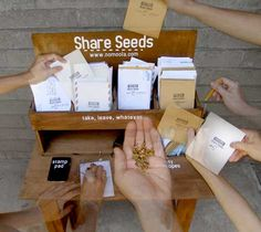 I find myself quite charmed with this idea.  This group provides all you need to set up seed sharing stations in high traffic areas, like libraries and community centers.  Beyond awesome.  I plan to put some of these together and try to get them out into my community.
