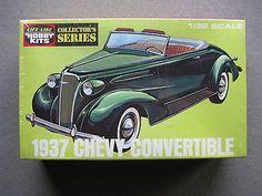 LIFE-LIKE-1-32-1937-Chevy-Convertible-model-car-kit-09299-New-MIB-Pyro