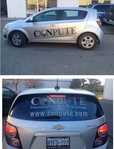 Sonic completed for CONPUTE - digital print graphics on perforated vinyl, and cut black text on the body.  December 2015 www.SpeedproDurham.ca