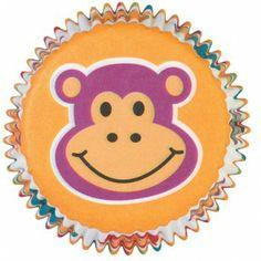 Wilton Jungle Pals Cupcake Wraps Monkey Cupcake by Cupcake Wraps, Cupcake Liners, Cupcake Holders, Cupcake Supplies, Baking Supplies, Wilton Baking, Monkey Cupcakes, Baking Supply Store, Cupcake In A Cup