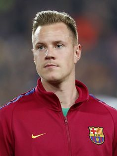 goalkeeper Marc-Andre ter Stegen of FC Barcelona during the UEFA Champions League round of 16 match between FC Barcelona and Chelsea FC at the Camp Nou stadium on March 2018 in Barcelona, Spain.(Photo by VI Images via Getty Images) Fc Barcelona, Barcelona Sports, Barcelona Football, Germany Football Team, Football Boys, Messi Fans, Lionel Messi Wallpapers, Marc Andre, Sports Celebrities