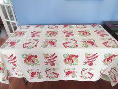 barbecue vintage tablecloth - Google Search Bar B Q, Vintage Tablecloths, Barbecue, Decorative Boxes, Google Search, Home Decor, Vintage Table Linens, Decoration Home, Barrel Smoker