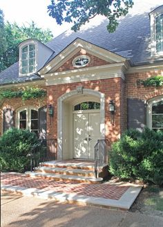 new pedimented door surround menzer mcclure architects orange brick housespaint color Brick House Trim, Brick House Colors, Best Exterior Paint, Exterior Paint Colors For House, Orange Brick Houses, Red Brick Homes, Red Brick Exteriors, House Paint Color Combination, Exterior Color Schemes