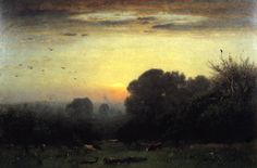George Inness (1825-1894) Morning -1878 not sure if this was the painting that I saw at museo thyssen