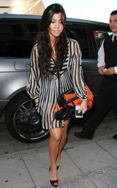 Kourtney Kardashian wearing Fendi to You Clutch and Christian Louboutin Prive Shoes.