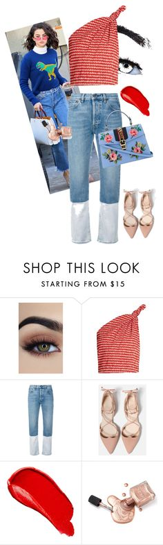 """Sin título #180"" by majo-mv on Polyvore featuring moda, Rosie Assoulin, Ports 1961, Burberry y Gucci"