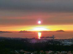 SKY WITH SMOKE DURING SUNSET VIGO