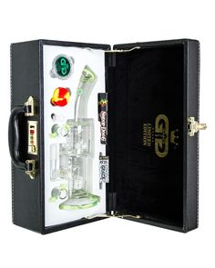 Gg Limited Edition Yellow Green Saxo Bong In Leather Box G619g