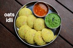 instant oats idli recipe, steamed oatmeal idli with step by step photo/video. an healthy and tasty savoury cake recipe made with powdered oats and yogurt. Oats Recipes, Gourmet Recipes, Appetizer Recipes, Vegetarian Recipes, Cooking Recipes, Healthy Recipes, Healthy Food, Snack Recipes, Snacks