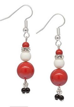 So Sweet Santa Crystal Swarovski Elements Red Christmas Earrings