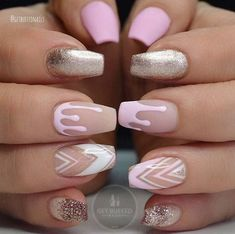 80 stylish acrylic nails for any occasion … - Nail Art Designs Nails Yellow, Pink Acrylic Nails, Glitter Nails, Gel Nails, Coffin Nails, Gold Glitter, Pink Coffin, Stiletto Nails, Drip Nails