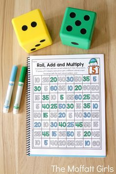 Why can't practicing multiplication facts be fun? Turn math into a game and let your students practice with this exclusive bundle freebie, the Multiplication Roll, Add and Multiply NO PREP Packet. Fun Math, Math Games, Math Activities, Math Math, Dice Games, Teaching Multiplication, Teaching Math, Multiplication Strategies, Math Fractions