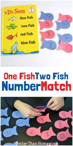 One Fish Two Fish Number Match Play a fun number match game inspired by Dr. Seuss's One Fish Two Fish Red Fish Blue Fish One Fish Two Fish Number Match Play a fun number match game inspired by Dr. Seuss's One Fish Two Fish Red Fish Blue Fish Kindergarten Math Games, Math Games For Kids, Preschool Lessons, Preschool Crafts, Preschool Activities, Math Activities For Preschoolers, Abc Games, Kids Fun, Preschool Themes By Month