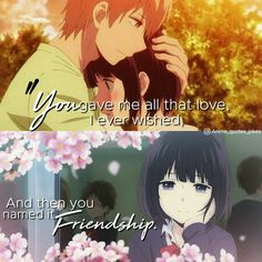 Anime quotes Anime  Quotes Kuzu no honkai Hanabi and Mugi Sad quotes