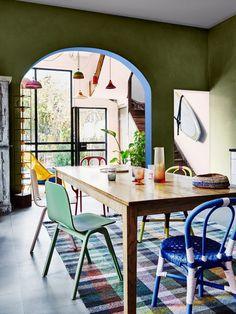 olive green interior paint colour scheme