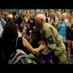 Military Dad, On Leave from Afghanistan, Surprises His Two Children at the Airport