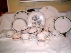 BOX LOT OF RESTAURANT CHINA BOUGHT OFF OF EBAY