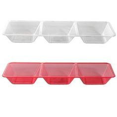 3-Section Plastic Compartment Tray