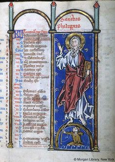 Psalter-Hours, MS M.94 fol. 6r - Images from Medieval and Renaissance Manuscripts - The Morgan Library & Museum