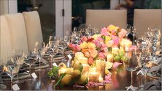 Real housewives dinner party table. Simple and chic! I love it!