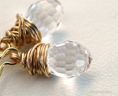 Swarofsky Crystal Golden Earrings by PiscesAndFishes