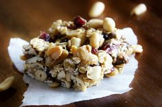 chewy sweet and salty trail mix bars.