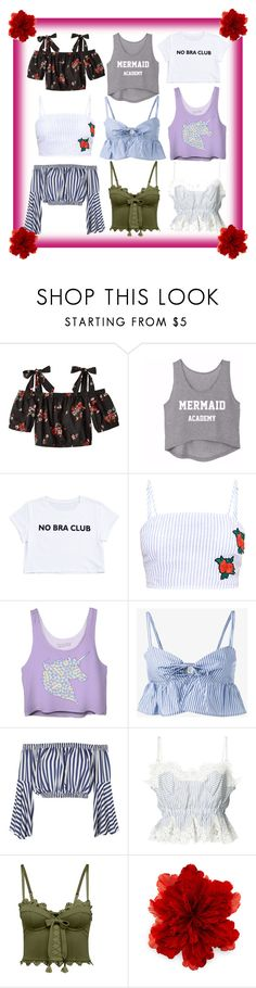 """""""Summer crop tops. Which one is your favorite?"""" by kylie-the-cross-country-runner ❤ liked on Polyvore featuring Maryam Nassir Zadeh, Love, Sacai, Puma and Gucci"""