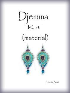 Djemma.Beading Kit.(material)Djemma.Exclusive earrings. Free shipping.!
