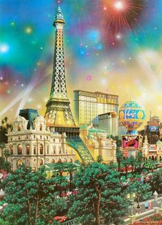 Paris - Limited Edition Offset Lithograph on Paper by Alexander Chen