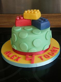 Lego birthday cake-since Thea loves legos!