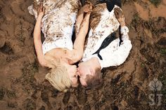 Trash the Dress- Rolling in the mud