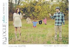 A Great Maternity Photo Idea! Especially for gender reveal color clothing for sex of baby