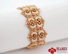 Beading Tutorial Honeycomb Bracelet Beading pattern PDF por Ellad2
