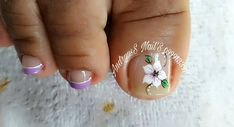 Cute Toe Nails, Cute Toes, Toe Nail Art, Toe Nail Designs, Manicure And Pedicure, Simple Designs, Hair Beauty, Lily, Instagram Posts