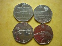 4 x 2011 #london olympic games 50 pence coins- #football, shooting etc #freepost…